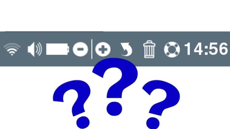 Wozu dient die Symbolleiste unten rechts?
