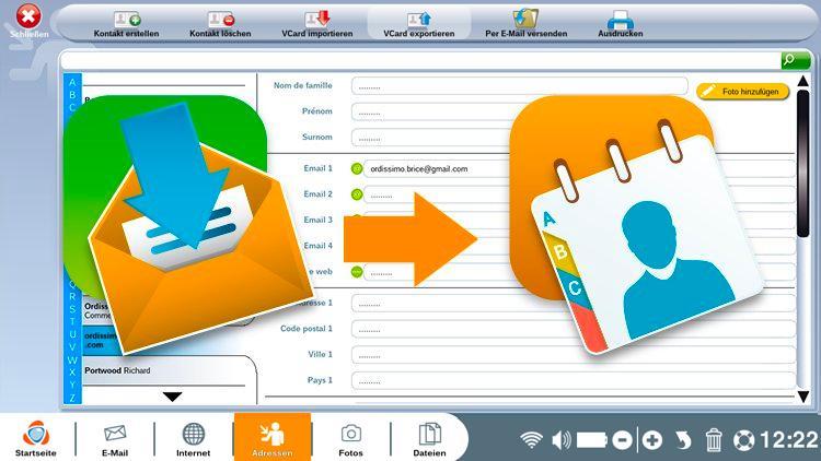 Speichern einer E-mail-Adresse aus einer empfangenen E-Mail im Adressbuch