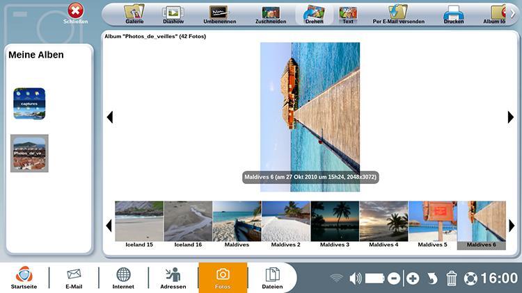Fotos mit der Foto-Anwendung drehen und zuschneiden