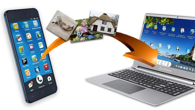 Fotos von Ihrem Android-Handy auf Ihren Ordissimo übertragen