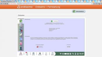 Fernzugriff auf einen Ordissimo über einen Webbrowser ohne Plugin (noVNC-Methode).